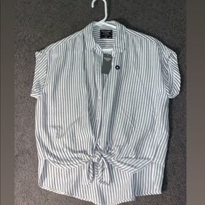 A button up tee shirt from Abercrombie and Fitch!!